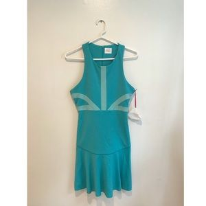 "Teal Parker Midi dress in the style ""Harvey"""